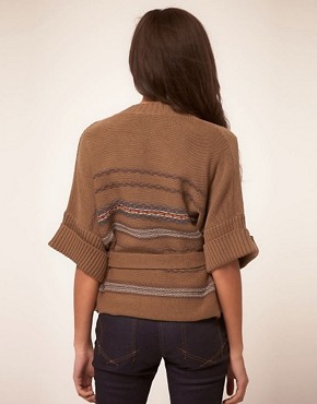 Image 2 ofKookai Wrap Cardigan With Belt