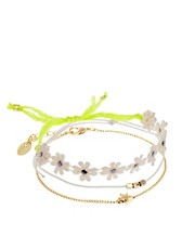 Orelia Daisy And Star Friendship Bracelet Set