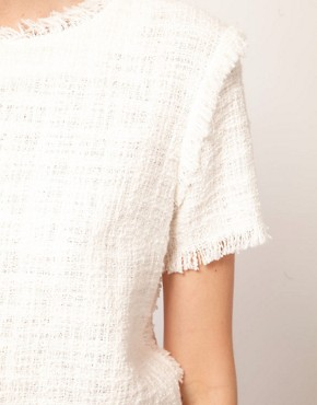 Image 3 ofMSGM Short Sleeve Top in Boucle