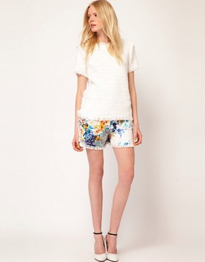 Image 4 ofMSGM Short Sleeve Top in Boucle