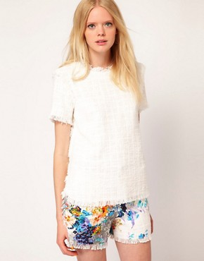 Image 1 ofMSGM Short Sleeve Top in Boucle