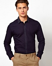 ASOS Smart Shirt With Contrast Placket