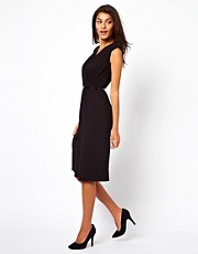 ASOS Wrap Dress With Belt And Shoulder Detail