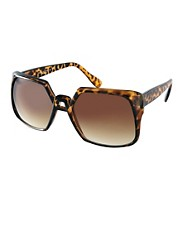 ASOS 70s Square Sunglasses With Bridge Detail
