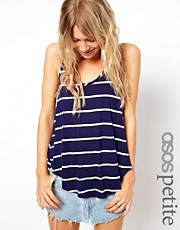 ASOS PETITE Exclusive Stripe Swing Vest