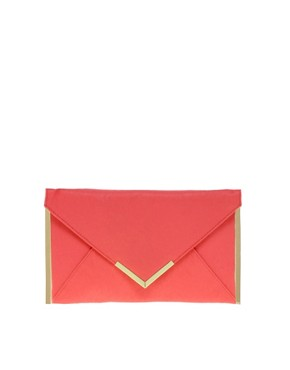 Image 1 ofASOS Metal Bar Detail Envelope Clutch
