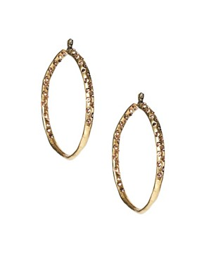 Image 1 ofMango Antiqued Stone Set Hoop Earrings
