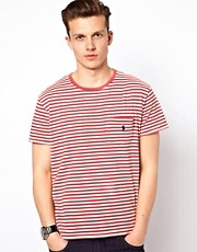 Polo Ralph Lauren T-Shirt In Red Stripe Crew Neck