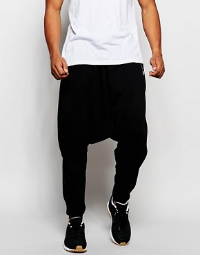 ASOS Extreme Drop Crotch Joggers With Gold Zips