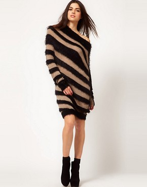 Image 1 ofMiss Sixty Striped Jumper Dress