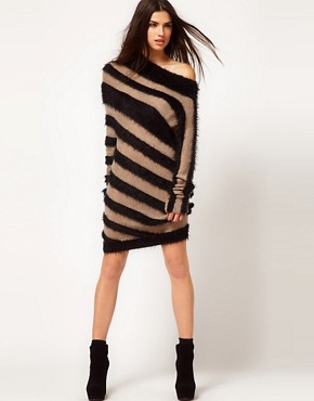 Image 4 ofMiss Sixty Striped Jumper Dress