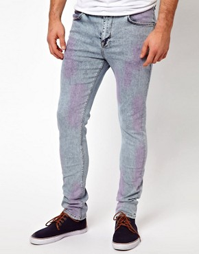 Image 1 ofASOS Super Skinny Jean With Acid Wash