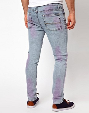 Image 2 ofASOS Super Skinny Jean With Acid Wash