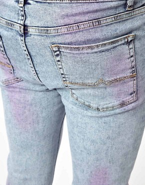 Image 3 ofASOS Super Skinny Jean With Acid Wash