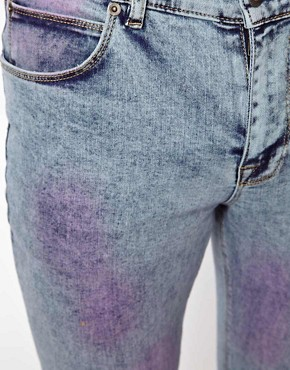 Image 4 ofASOS Super Skinny Jean With Acid Wash