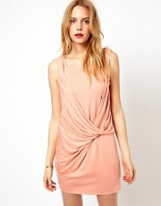 Love Ruched Knot Dress