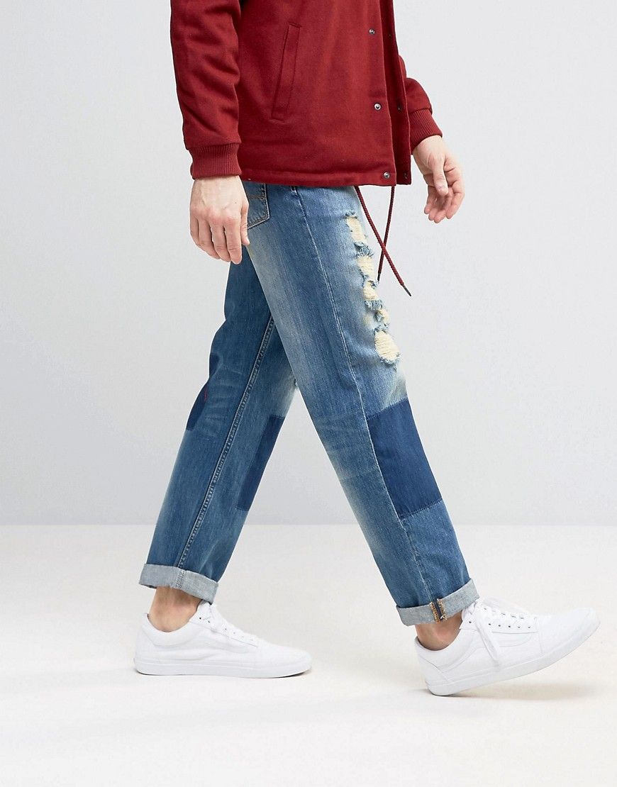 asos-straight-jeans-with-shadow-patching-mega-rips-in-mid-wash-blue