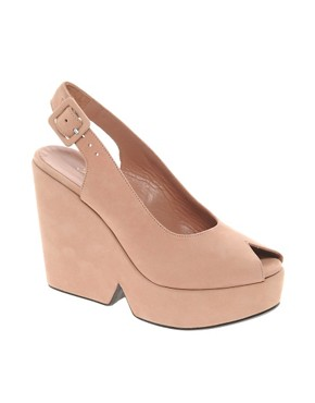 Image 1 ofRobert Clergerie Dylan Slingback Wedge Sandals