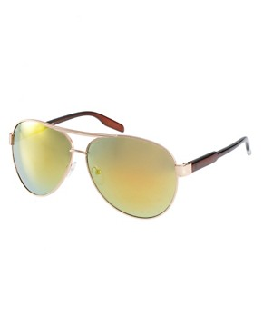 Image 1 ofASOS Classic Retro Aviator Glasses