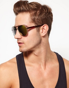 Image 3 ofASOS Classic Retro Aviator Glasses