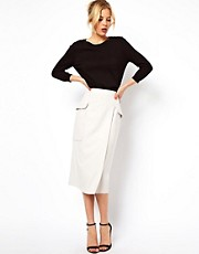 ASOS Skirt With Oversized Pockets &amp; Wrap
