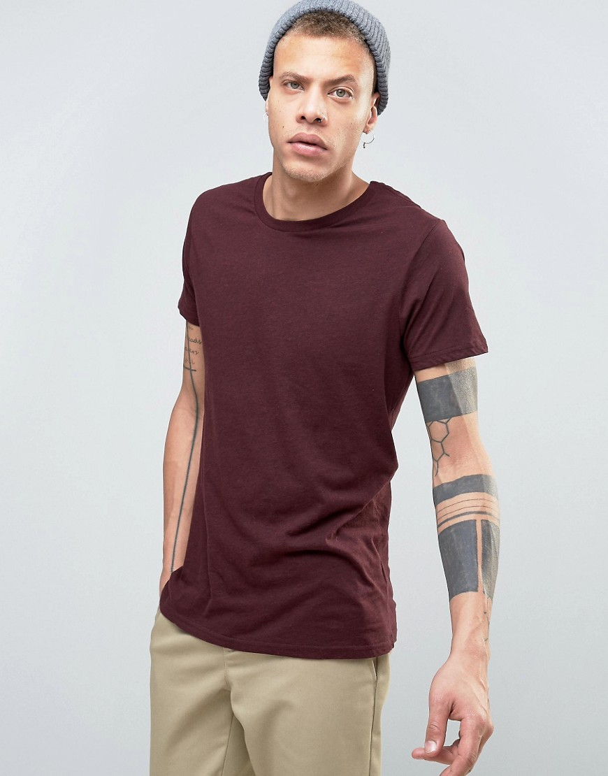 Weekday Alex Melange T-Shirt - Red