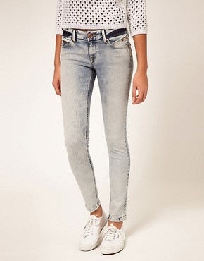 Image 1 ofRiver Island Bleached Skinny Jean