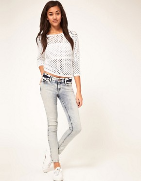 Image 4 ofRiver Island Bleached Skinny Jean