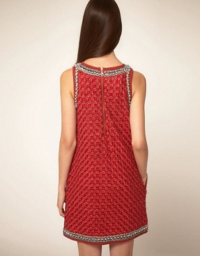 Image 2 ofManoush Boucles Shift Dress With Embellished Trim