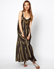 Free People Cheesecloth Dress with Tassel