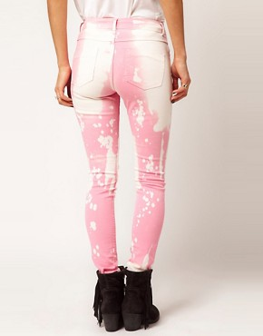 Image 2 ofASOS Skinny Jeans in Splatter Effect #4