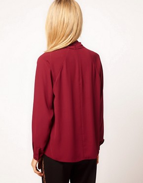 Image 2 ofASOS Blouse With Gathered Neck