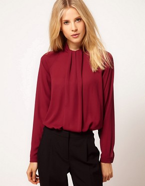 Image 1 ofASOS Blouse With Gathered Neck