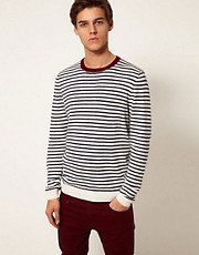 ASOS Stripe Crew Neck Jumper