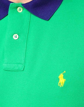 Image 3 ofPolo Ralph Lauren Polo with Contrast Collar in Custom Fit