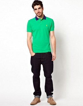 Image 4 ofPolo Ralph Lauren Polo with Contrast Collar in Custom Fit