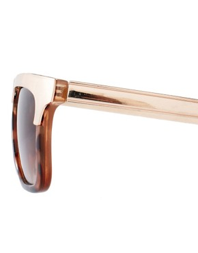 Image 4 ofASOS Retro Sunglasses With Metal Top