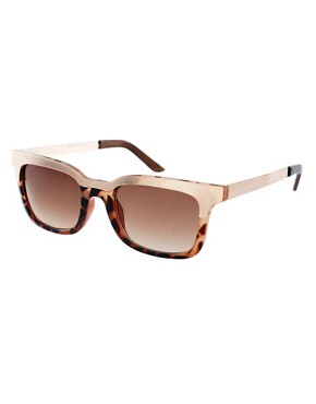 Image 1 ofASOS Retro Sunglasses With Metal Top