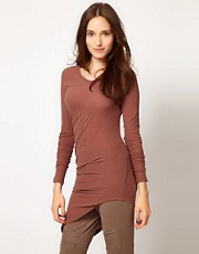 JNBY Asymmetric Long Sleeve Top