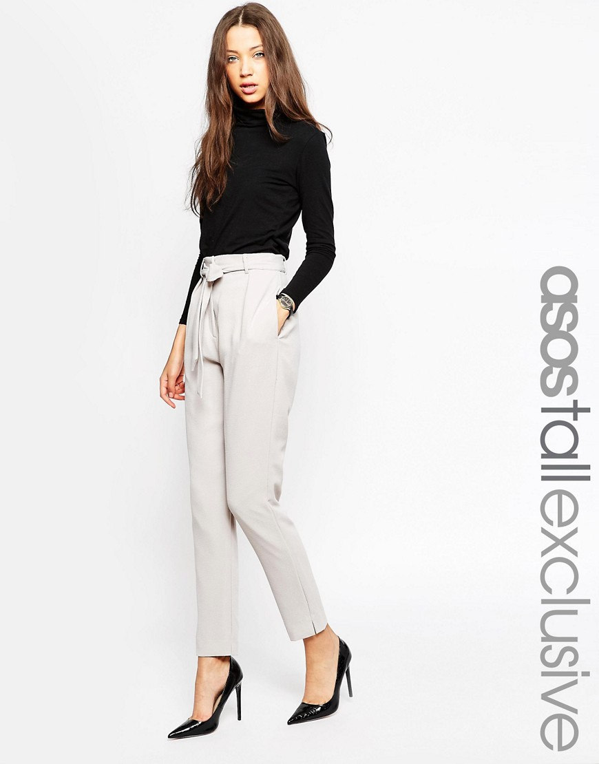 ASOS TALL Co-ord Belted Slim Leg Tailored Trouser