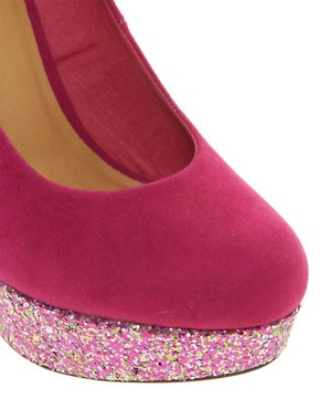 Image 2 ofASOS PUSH IT Glitter Platforms