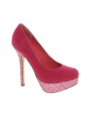 Image 1 ofASOS PUSH IT Glitter Platforms