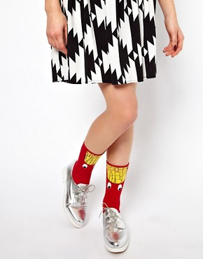 Image 1 ofLazy Oaf French Fries Socks
