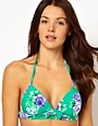 Image 1 ofSeafolly Rococo Rose Fixed Moulded Triangle Bikini Top