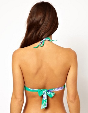 Image 2 ofSeafolly Rococo Rose Fixed Moulded Triangle Bikini Top