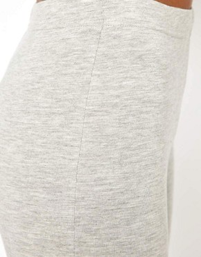 Image 3 ofASOS Full Length Leggings in Light Grey Marl