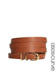 ASOS CURVE Metal Keeper Super Skinny Waist Belt