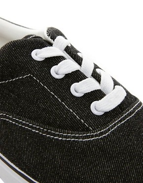 Image 2 of ASOS Plimsolls With Washed Finish