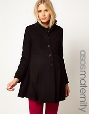 ASOS Maternity Swing Coat With Pleats