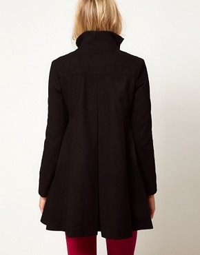 Image 2 of ASOS Maternity Swing Coat With Pleats